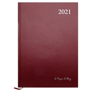 PREMIER 2021 A4 DIARY - 2 PAGE A DAY 3 ASST