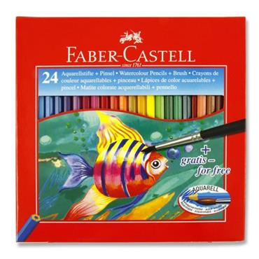 Faber Box 24 Water Soluble Colour Pencils