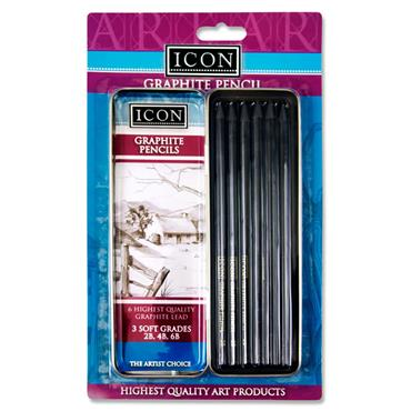 Icon Graphite Pencil Set In Tin