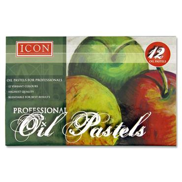 Icon Box 12 Professional Oil Pastels