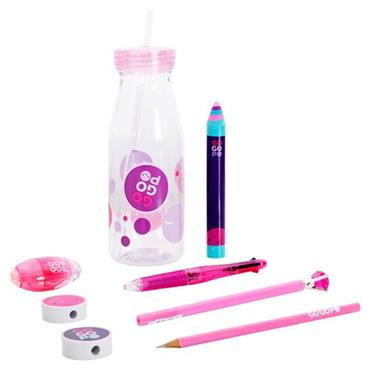 GOGOPO 9pce MILK BOTTLE BUNDLE - PINK