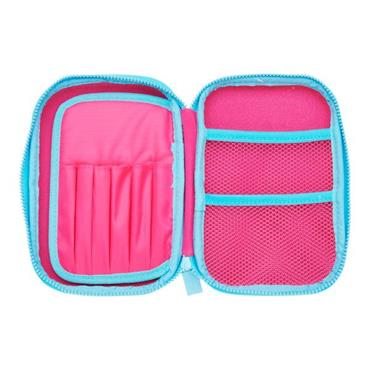 TINC BUDS HARDTOP PENCIL CASE - PINK & BLUE