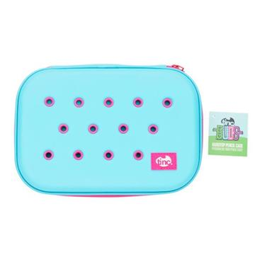 TINC BUDS HARDTOP PENCIL CASE - BLUE & PINK
