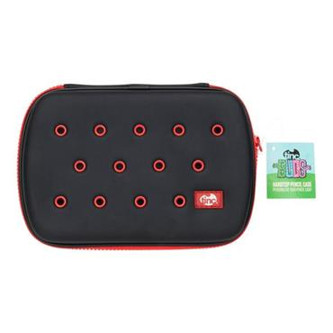 TINC BUDS HARDTOP PENCIL CASE - BLACK & RED