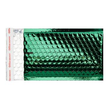 OFFICE DEPOT SIZE B 210x120mm PADDED METALLIC ENVELOPES - GREEN