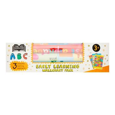HELP WITH HOMEWORK PKT.3 WALLCHARTS - 3+ EARLY LEARNING