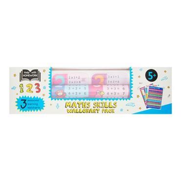 HELP WITH HOMEWORK PKT.3 WALLCHARTS - 5+ MATH SKILLS