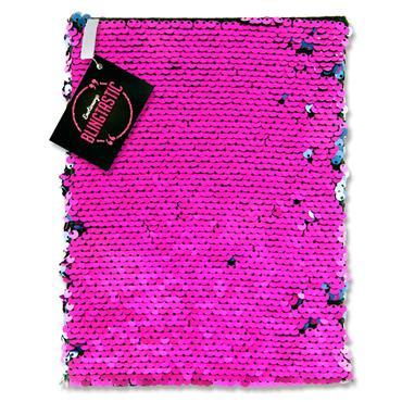 Emotionery Blingtastic A5 160pg Sequins Notebook - Fuschia & Blue