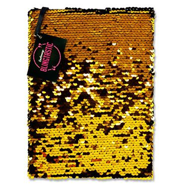 Emotionery Blingtastic A5 160pg Sequins Notebook - Black & Gold