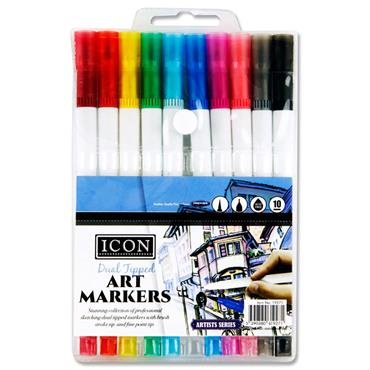 Icon Pkt.10 Dual Tipped Art Markers