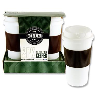 Premier Universal 2 Pack 15oz/450ml Eco Coffee Cup Beakers