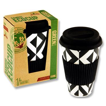 Premier Green Line 15oz/450ml Bamboo Coffee Ecocup - Geometric Design