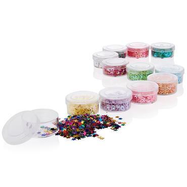 Icon Craft Box 12 Glitter Shapes