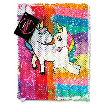EMOTIONERY BLINGTASTIC A5 160pg SEQUINS NOTEBOOK - UNICORN