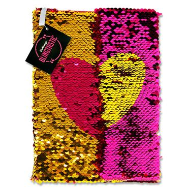 Emotionery Blingtastic A5 160pg Sequins Notebook - Heart
