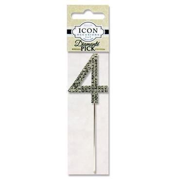 Icon Occasions 10.5cm Diamante Pick - Silver 4