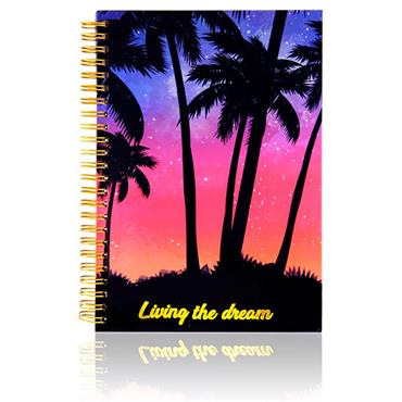 I Love Stationery A5 160pg Wiro Notebook - Living The Dream