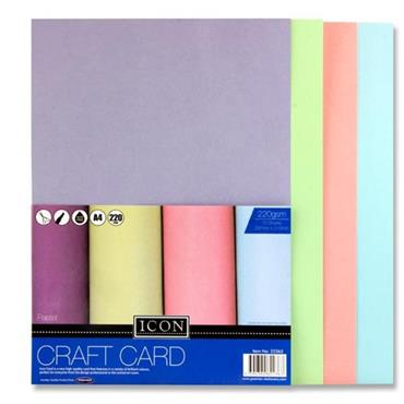 Icon Pkt.10 A4 220gsm Craft Card - Pastel