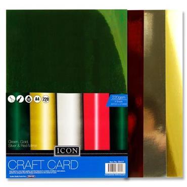 Icon Pkt.8 A4 220gsm Craft Card - Mirror