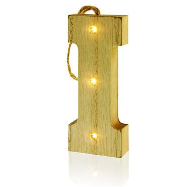 ICON OCCASIONS 10cm HANGING WOODEN LED LETTER - I