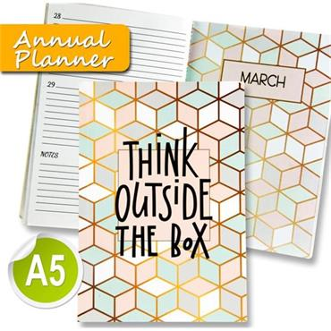 I Love Stationery A5 170pg Annual Planner Journal - Think Outside The Box