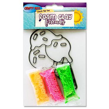 Crafty Bitz Foam Clay Friends - Ice Cream