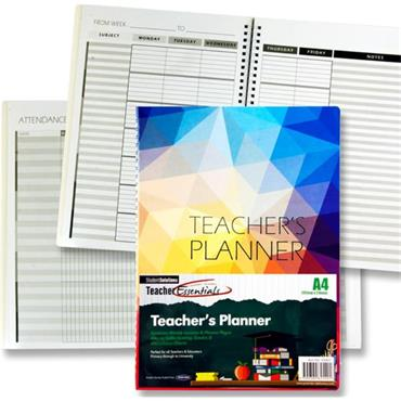 Student Solutions A4 Teacher's Planner - Bright