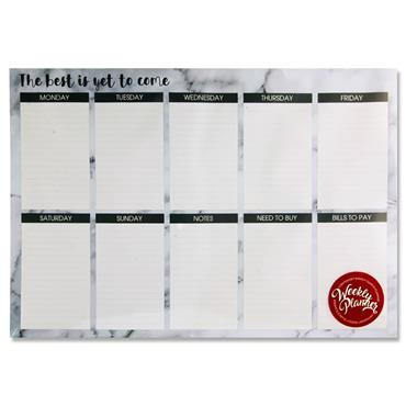 I Love Stationery 420x285mm Weekly Planner - Marble The Best Is Yet To Come..