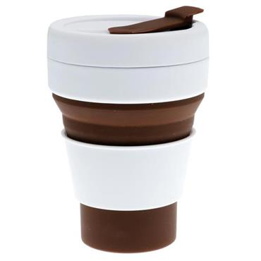 GREEN LINE 12oz COLLAPSIBLE CUP - BROWN