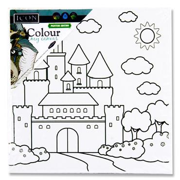 Icon 100x100mm Colour My Canvas - Castle