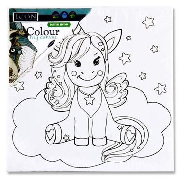 Icon 100x100mm Colour My Canvas - Unicorn