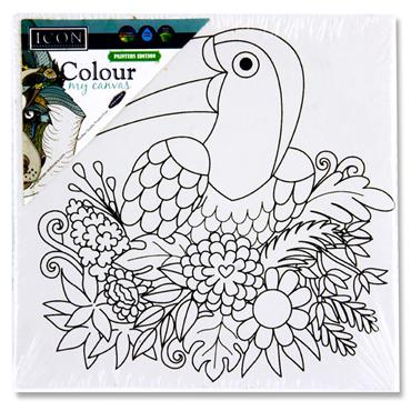 Icon 100x100mm Colour My Canvas - Toucan