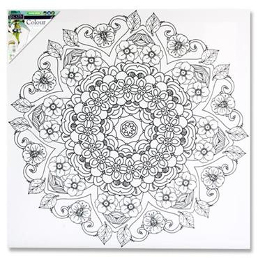 Icon 500x500mm Colour My Canvas - Mandala