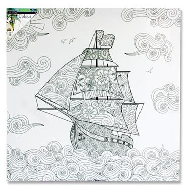 Icon 500x500mm Colour My Canvas - Ship