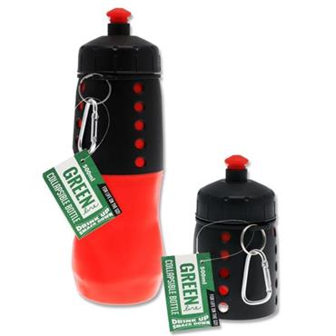 GREEN LINE 500ml COLLAPSIBLE BOTTLE - RED