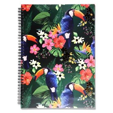 I LOVE STATIONERY A4 160pg WIRO NOTEBOOK - TOUCAN