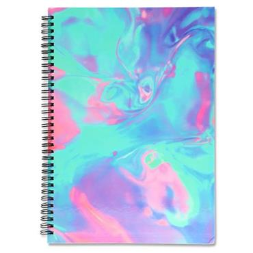 I LOVE STATIONERY A4 160pg WIRO NOTEBOOK - NEON OIL SPILL