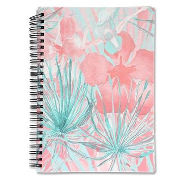 I LOVE STATIONERY A5 160pg WIRO NOTEBOOK - PASTEL PALM