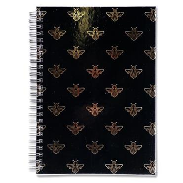 I LOVE STATIONERY A5 160pg WIRO NOTEBOOK - QUEEN BEES