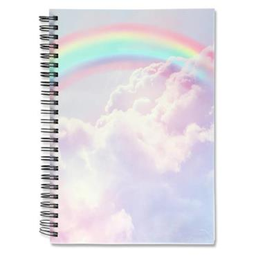 I LOVE STATIONERY A5 160pg WIRO NOTEBOOK - PASTEL RAINBOW