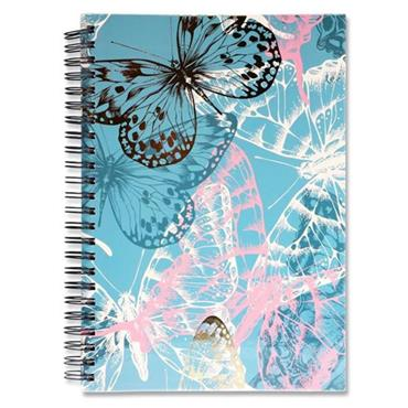 I LOVE STATIONERY A5 160pg WIRO NOTEBOOK - BUTTERFLIES