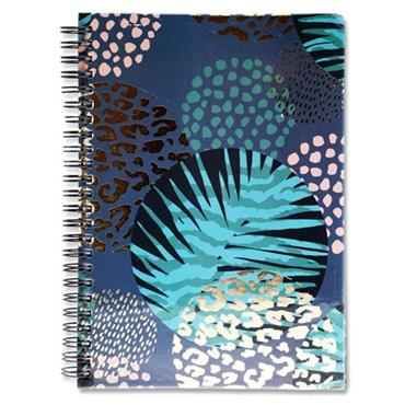I LOVE STATIONERY A5 160pg WIRO NOTEBOOK - TROPICAL LEOPARD
