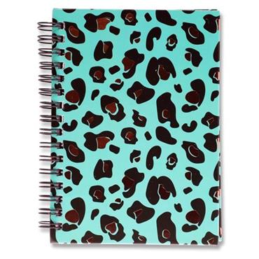 I LOVE STATIONERY A6 160pg WIRO NOTEBOOK - LEOPARD PRINT