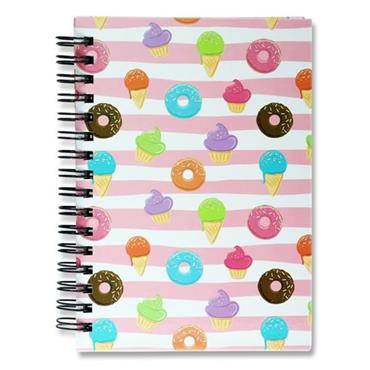I LOVE STATIONERY A6 160pg WIRO NOTEBOOK - DONUTS
