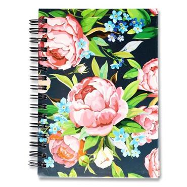 I LOVE STATIONERY A6 160pg WIRO NOTEBOOK - ROSES