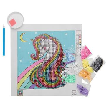 ICON DIAMOND PAINTING KIT 20x20CM - UNICORN