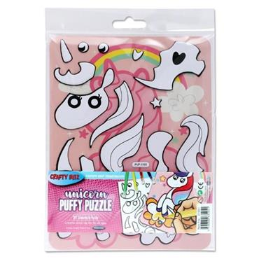 CRAFTY BITZ PUFFY DIY COLOURING PUZZLE - UNICORN