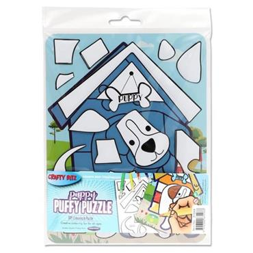 CRAFTY BITZ PUFFY DIY COLOURING PUZZLE - PUPPY