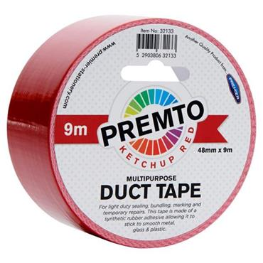 PREMTO MULTIPURPOSE DUCT TAPE 48mm x 9m - KETCHUP RED