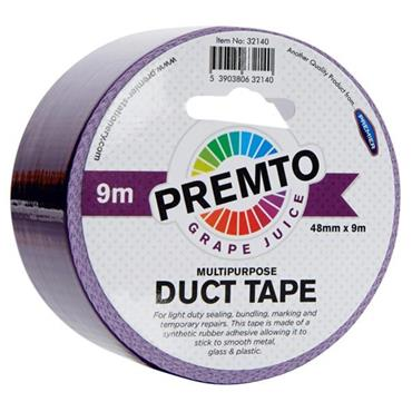 PREMTO MULTIPURPOSE DUCT TAPE 48mm x 9m - GRAPE JUICE